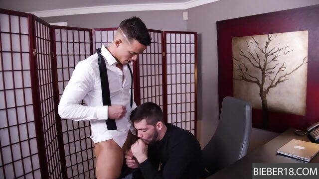 He is eager to suck up to the job! gay beeg videos
